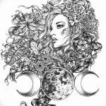 фото эскиз тату Афродита богиня от 01.05.2018 №030 - sketch Aphrodite - tatufoto.com