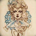 фото эскиз тату Афродита богиня от 01.05.2018 №032 - sketch Aphrodite - tatufoto.com