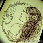 фото эскиз тату Афродита богиня от 01.05.2018 №040 - sketch Aphrodite - tatufoto.com