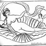 фото эскиз тату Афродита богиня от 01.05.2018 №041 - sketch Aphrodite - tatufoto.com