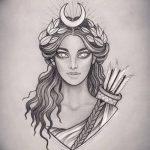 фото эскиз тату Афродита богиня от 01.05.2018 №044 - sketch Aphrodite - tatufoto.com
