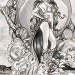 фото эскиз тату Афродита богиня от 01.05.2018 №052 - sketch Aphrodite - tatufoto.com