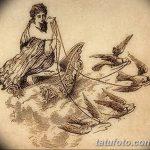 фото эскиз тату Афродита богиня от 01.05.2018 №056 - sketch Aphrodite - tatufoto.com
