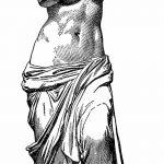 фото эскиз тату Афродита богиня от 01.05.2018 №058 - sketch Aphrodite - tatufoto.com