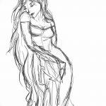 фото эскиз тату Афродита богиня от 01.05.2018 №062 - sketch Aphrodite - tatufoto.com