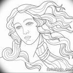 фото эскиз тату Афродита богиня от 01.05.2018 №064 - sketch Aphrodite - tatufoto.com
