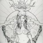 фото эскиз тату Афродита богиня от 01.05.2018 №071 - sketch Aphrodite - tatufoto.com