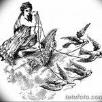 фото эскиз тату Афродита богиня от 01.05.2018 №077 - sketch Aphrodite - tatufoto.com