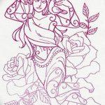 фото эскиз тату Афродита богиня от 01.05.2018 №079 - sketch Aphrodite - tatufoto.com