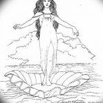 фото эскиз тату Афродита богиня от 01.05.2018 №081 - sketch Aphrodite - tatufoto.com
