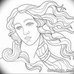 фото эскиз тату Афродита богиня от 01.05.2018 №082 - sketch Aphrodite - tatufoto.com