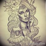 фото эскиз тату Афродита богиня от 01.05.2018 №084 - sketch Aphrodite - tatufoto.com