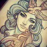 фото эскиз тату Афродита богиня от 01.05.2018 №093 - sketch Aphrodite - tatufoto.com