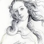 фото эскиз тату Афродита богиня от 01.05.2018 №095 - sketch Aphrodite - tatufoto.com