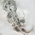 фото эскиз тату Афродита богиня от 01.05.2018 №101 - sketch Aphrodite - tatufoto.com