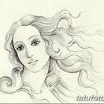 фото эскиз тату Афродита богиня от 01.05.2018 №105 - sketch Aphrodite - tatufoto.com