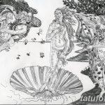 фото эскиз тату Афродита богиня от 01.05.2018 №106 - sketch Aphrodite - tatufoto.com