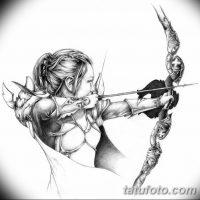 Эскизы тату «амазонка»