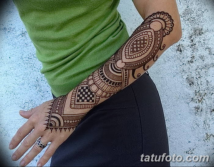 фото Мехенди до локтя от 24.06.2018 №089 - Mehendi to the elbow - tatufoto.com