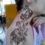 фото Мехенди на плече (хна) от 24.06.2018 №001 - Mehendi on the shoulder - tatufoto.com