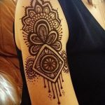 фото Мехенди на плече (хна) от 24.06.2018 №015 - Mehendi on the shoulder - tatufoto.com