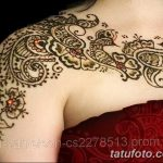 фото Мехенди на плече (хна) от 24.06.2018 №037 - Mehendi on the shoulder - tatufoto.com