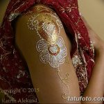 фото Мехенди на плече (хна) от 24.06.2018 №053 - Mehendi on the shoulder - tatufoto.com