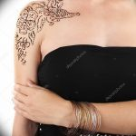 фото Мехенди на плече (хна) от 24.06.2018 №067 - Mehendi on the shoulder - tatufoto.com