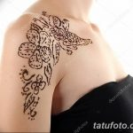 фото Мехенди на плече (хна) от 24.06.2018 №068 - Mehendi on the shoulder - tatufoto.com