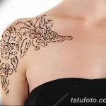 фото Мехенди на плече (хна) от 24.06.2018 №069 - Mehendi on the shoulder - tatufoto.com