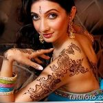 фото Мехенди на плече (хна) от 24.06.2018 №071 - Mehendi on the shoulder - tatufoto.com