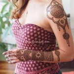 фото Мехенди на плече (хна) от 24.06.2018 №073 - Mehendi on the shoulder - tatufoto.com