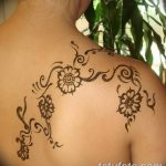 фото Мехенди на плече (хна) от 24.06.2018 №076 - Mehendi on the shoulder - tatufoto.com