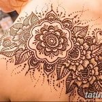 фото Мехенди на плече (хна) от 24.06.2018 №078 - Mehendi on the shoulder - tatufoto.com
