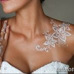 фото Мехенди на плече (хна) от 24.06.2018 №079 - Mehendi on the shoulder - tatufoto.com