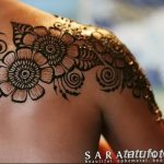 фото Мехенди на плече (хна) от 24.06.2018 №090 - Mehendi on the shoulder - tatufoto.com