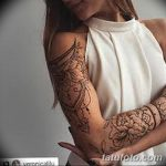 фото Мехенди на плече (хна) от 24.06.2018 №114 - Mehendi on the shoulder - tatufoto.com