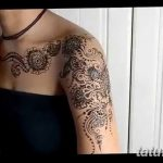 фото Мехенди на плече (хна) от 24.06.2018 №128 - Mehendi on the shoulder - tatufoto.com