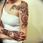 фото Мехенди на плече (хна) от 24.06.2018 №162 - Mehendi on the shoulder - tatufoto.com