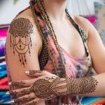 фото Мехенди на плече (хна) от 24.06.2018 №164 - Mehendi on the shoulder - tatufoto.com