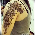 фото Мехенди на плече (хна) от 24.06.2018 №165 - Mehendi on the shoulder - tatufoto.com