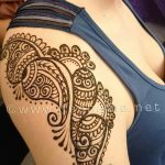 фото Мехенди на плече (хна) от 24.06.2018 №166 - Mehendi on the shoulder - tatufoto.com