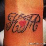 фото Тату инициалы от 19.06.2018 №005 - tattoo initials - tatufoto.com