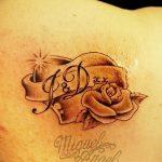 фото Тату инициалы от 19.06.2018 №052 - tattoo initials - tatufoto.com