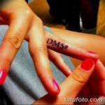 фото Тату инициалы от 19.06.2018 №083 - tattoo initials - tatufoto.com