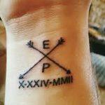 фото Тату инициалы от 19.06.2018 №111 - tattoo initials - tatufoto.com