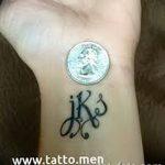 фото Тату инициалы от 19.06.2018 №120 - tattoo initials - tatufoto.com