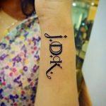 фото Тату инициалы от 19.06.2018 №171 - tattoo initials - tatufoto.com