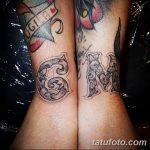 фото Тату инициалы от 19.06.2018 №178 - tattoo initials - tatufoto.com