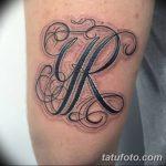 фото Тату инициалы от 19.06.2018 №181 - tattoo initials - tatufoto.com